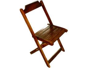 Cadeira de Madeira Dobrável Mogno