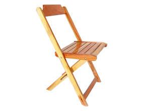 Cadeira de Madeira Dobrável Natural