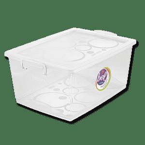 Caixa Organizadora transparente com trava