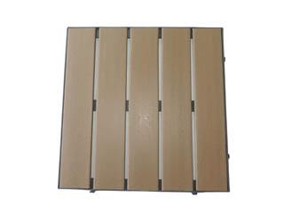 deck modular de madeira plástica