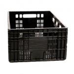 caixa plástica vazada preta