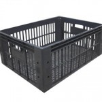 caixa plástica br1000 preta vazada