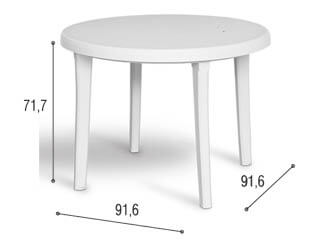 mesa de plástico desmontável