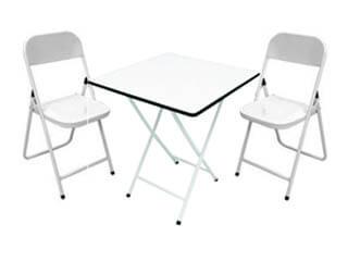 conjunto mesa metalmix madeira