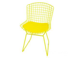 cadeira bertoia amarela
