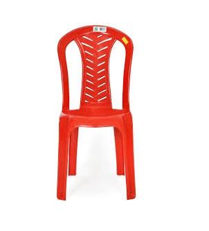 cadeira de plastico plastex vermelha