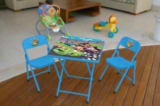 conjunto mesa e cadeira infantil de aço