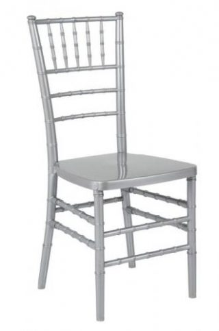 cadeira tiffany de ferro prata